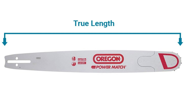 Chainsaw True Length Diagram