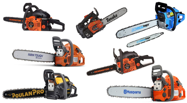 Gas powered chainsaws